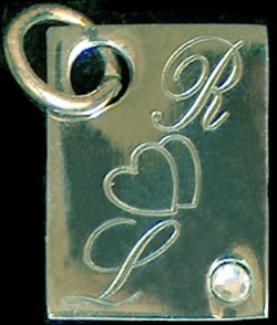 Pendentif rectangle