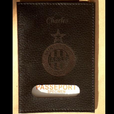 Protège Passeport en croûte de cuir